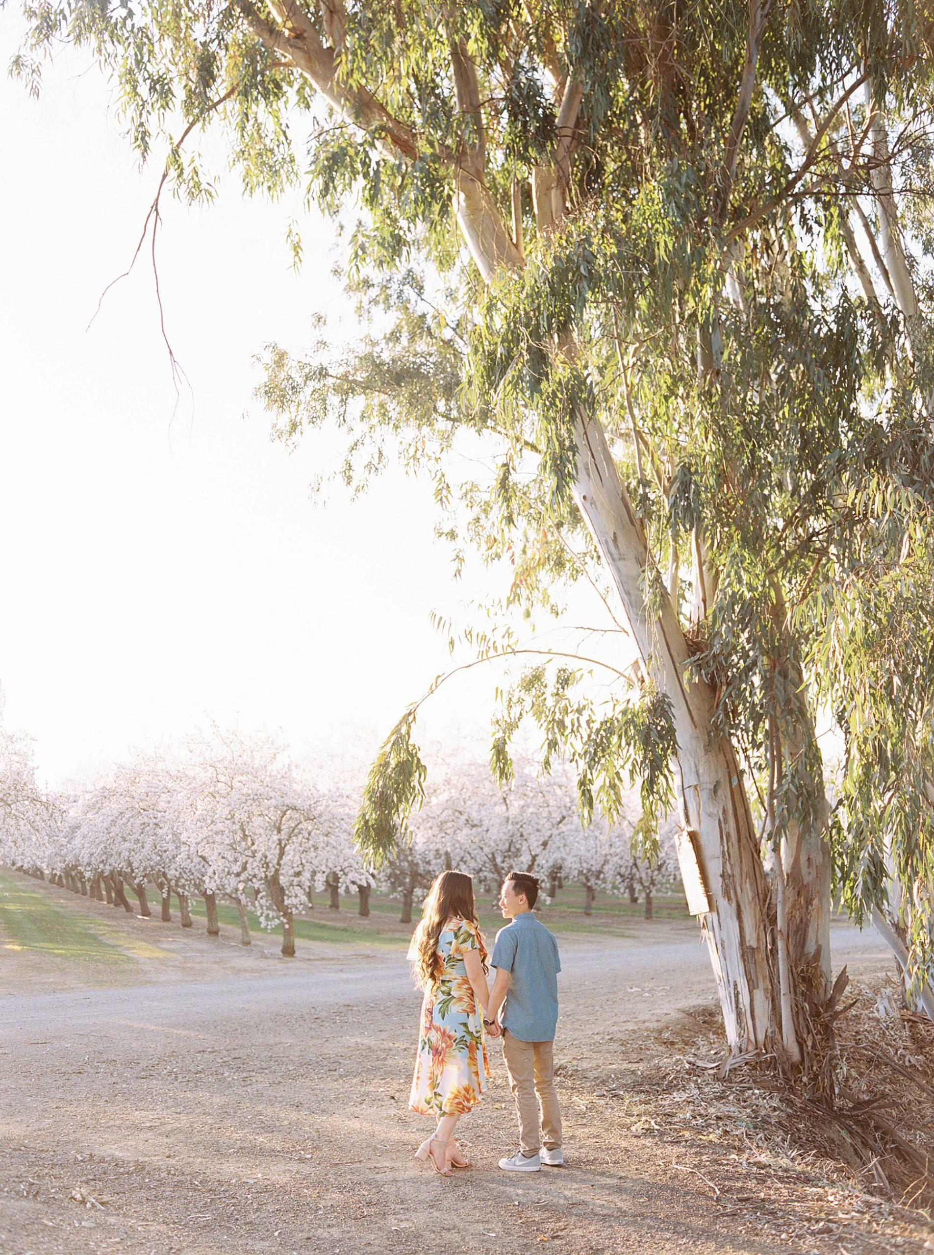 Almond Orchard Engagement Session - Caley and Tyler - Lone Oak Wedding - Ashley Baumgartner - Almond Blossom_0018.jpg