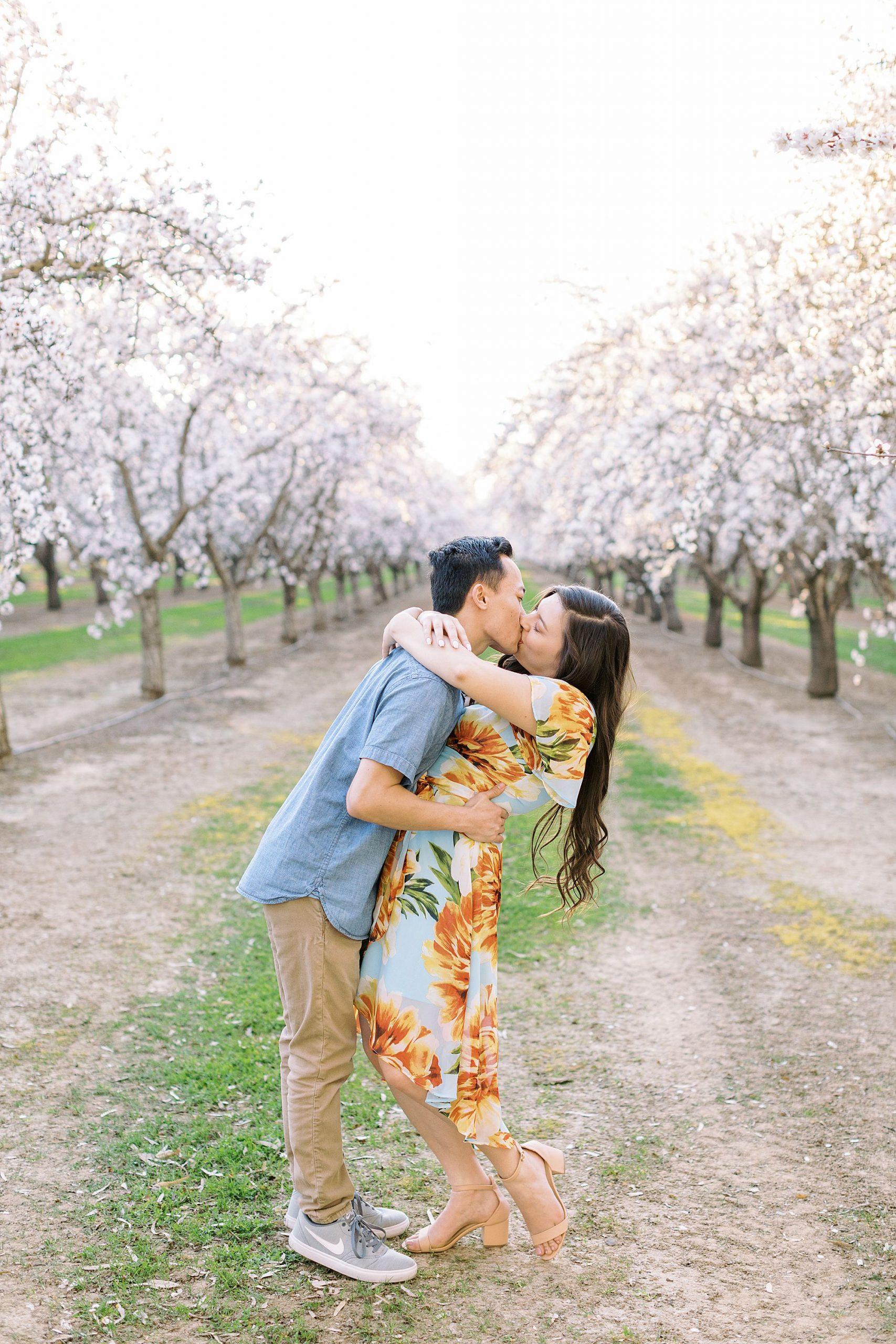 Almond Orchard Engagement Session - Caley and Tyler - Lone Oak Wedding - Ashley Baumgartner - Almond Blossom_0021.jpg